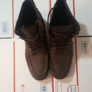 Lugz Men's Leather Boots size 12 Thick Sole Brown